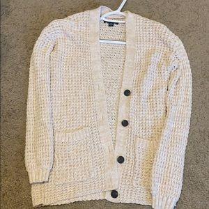AE Cream Oversized Cardigan